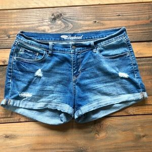 Old Navy Distressed Boyfriend Fit Shorts